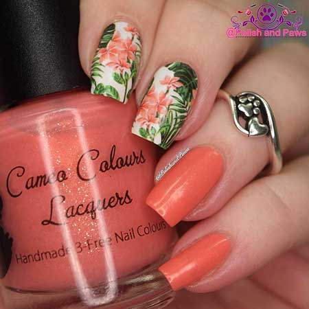 Summer Nails Summer Simple Coral - 27