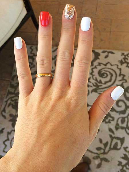 Simple Nails Summer Simple White 2017