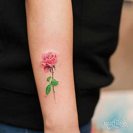 Small Tattoos Flower Small Rose 2017