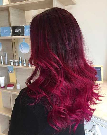 Red, Ombre, Red Ombre, Red