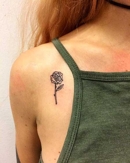 Small Tattoos Flower Small Rose - 34