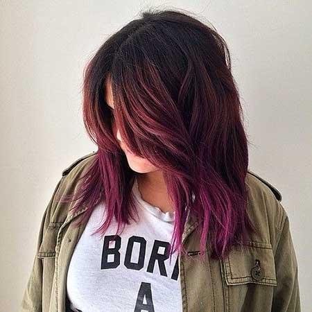 Ombre, Purple, Balayage, Colour