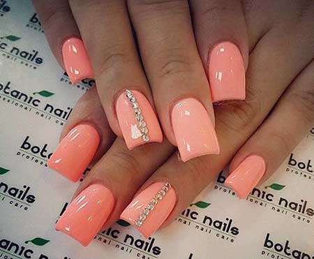 Summer Nails Summer Simple Coral - 38