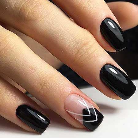 Black Nail, Matte Nail, Nail Design, Nail Art 2017, French Manicure, - 30 Acrylic Nail Designs For Winter - Styles 2018