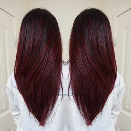 Red, Red, Balayage, Colour