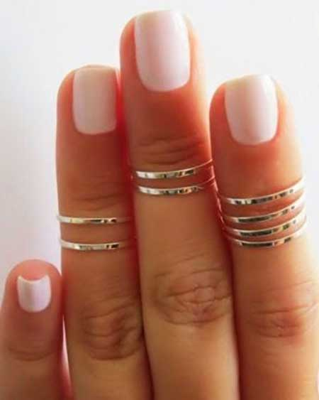 Nails Summer Simple White