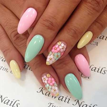 Nail Art 2017, Nail Design, Stiletto, Nailart, Pink, Nail Idea, Spring, Art