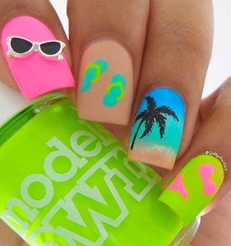 Summer Nails Summer Beach - 6