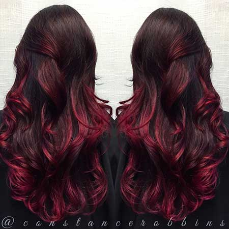 , Red, Ombre, Colour, Red
