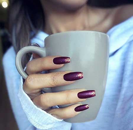 Nail Design, Nail Art 2017, French Manicure, Nail Polish, Manicures, Fall, Matte Nail, Polish, French