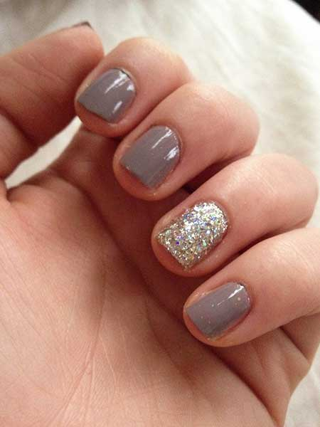 Nail Design, Nail Art 2017, Nail Idea, Glitter, Pretty Nail, Manicures, Nail Polish, Wedding