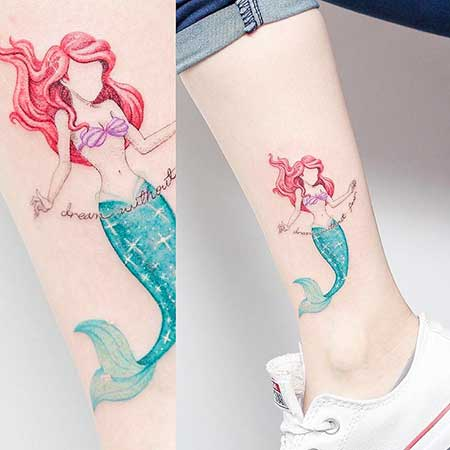 14 pics of simple and pretty small mermaid tattoo designs