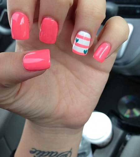 Summer Nails Summer Simple Coral - 7
