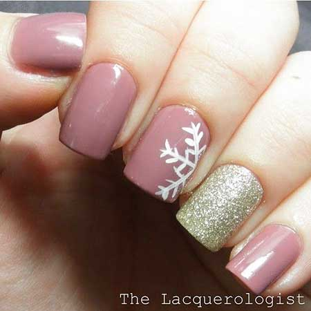 Nail Design, Nail Art 2017, Winter, Christmas, Pink, Nail Idea, Pink Bow