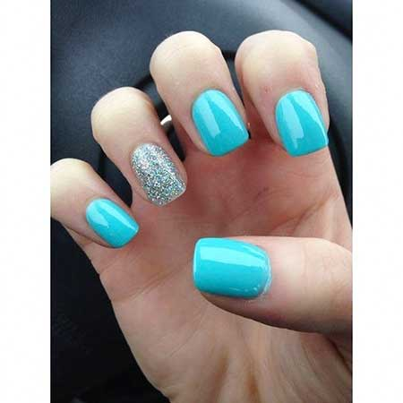 8- Short and Simple Nail Design - 20 Amazing Pics Of Summer Nail Ideas 2017-2018