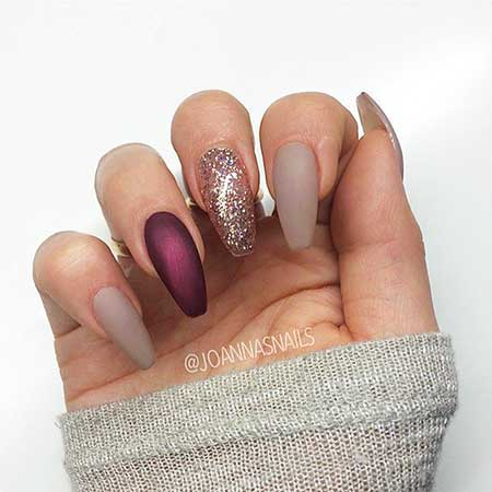 Nail Design, Nail Art 2017, Naildesign, Coffin, Pink, Glitter Nail, Nail Idea