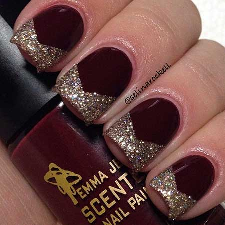Nail Design, Nail Art 2017, Glitter Nail, Christmas, Glitter, Nail Polish, Holiday, Polish