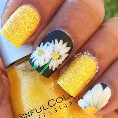 Nail Art 2017, Nail Design, Summer, Yellow, Art, Nailart, Yellow, Polish