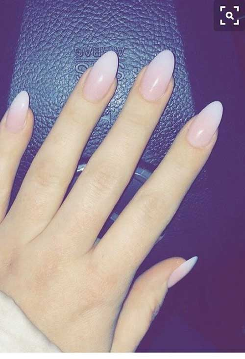 Long Oval Shape Nail - 13.Long Oval Shape Nail - Styles 2018