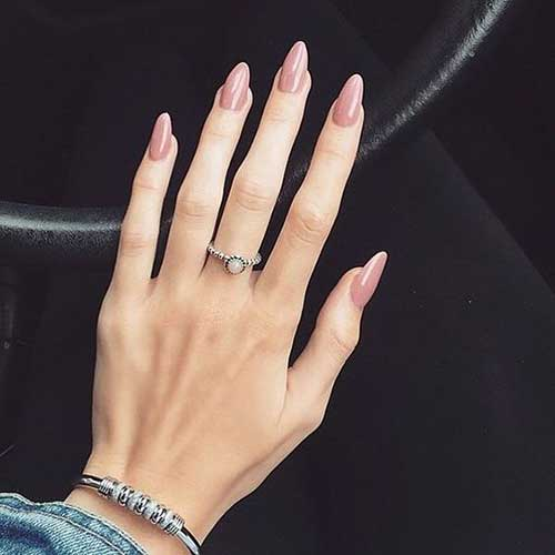 Long Nail Shapes: 15.Long Oval Shape Nail