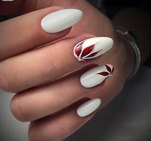 Long Oval Shape Nail Designs-8