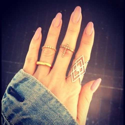 Long Oval Shape Nail Designs - 15 Long Oval Shape Nail Designs