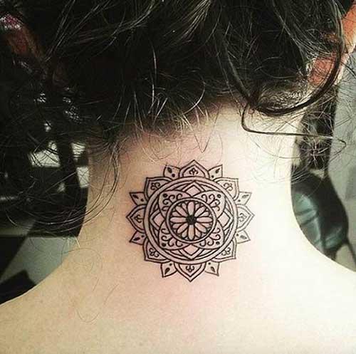 Neck Tattoos for Women-11