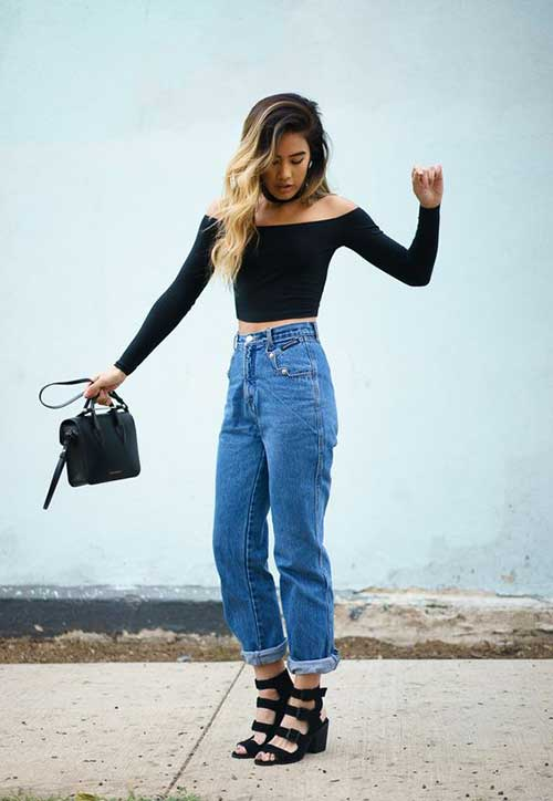 High Waist Jeans Outfits-14