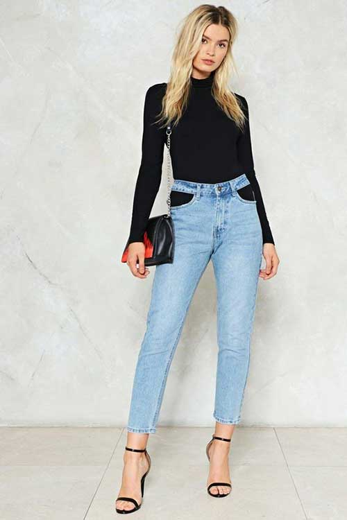 High Waist Jeans Outfits-9