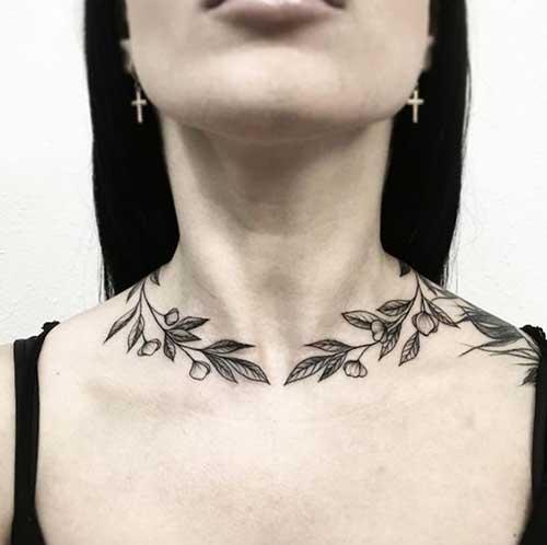 Neck Tattoos Women