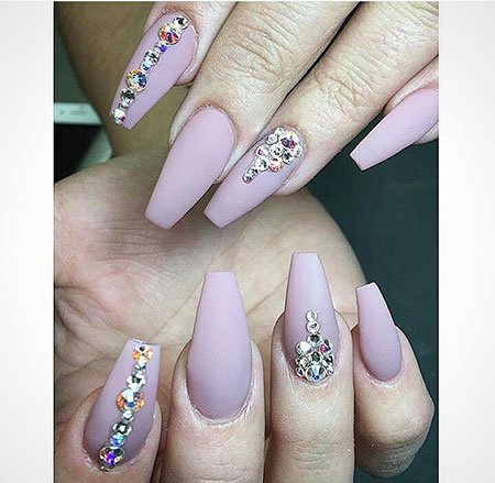 23 Nail Designs With Rhinestones