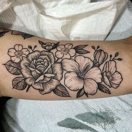 23 Best Black Flower Tattoo