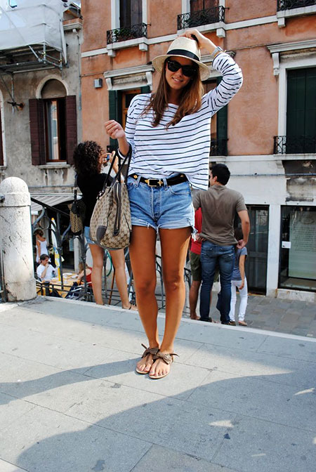Denim Shorts Outfit Idea, Summer Outfits Fashion Style