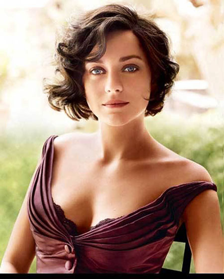 Vintage Hairtyle for Short Hair, Wavy Short Curly Hair