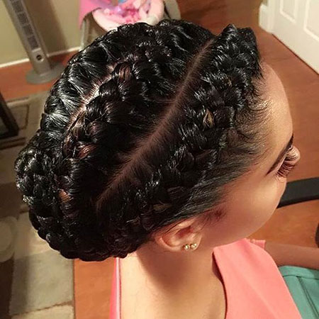 Braided Updo for Black Hair, Braids Braided Goddess Updo