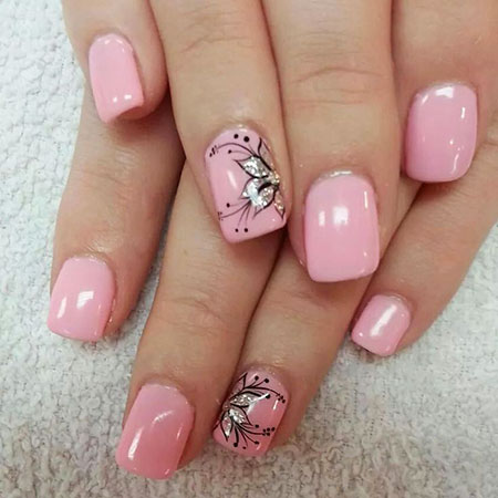 1-Flower Nail Design - 25 Flower Nail Designs