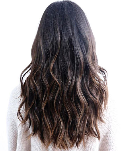 Cute Haircut for Long Hair, Hair Black Wavy Long