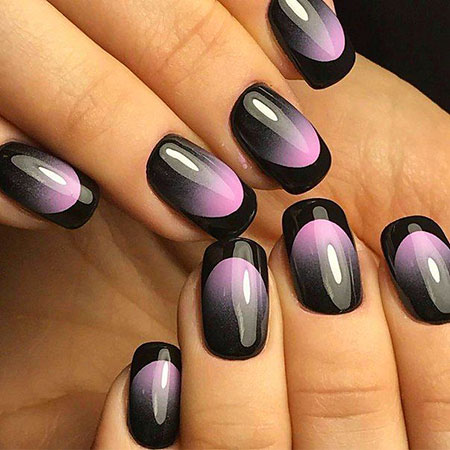 Pink and Black Nail Design, Nail Nails Black Designs