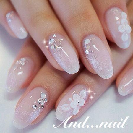 Bridal Nail Design, Nail 3D Lady 2018