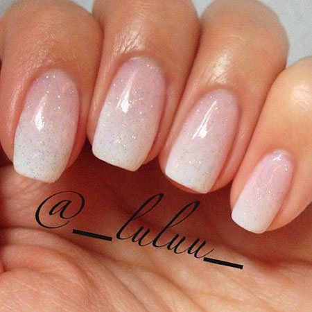 Natural Nail Design, Ombre French Wedding Nails