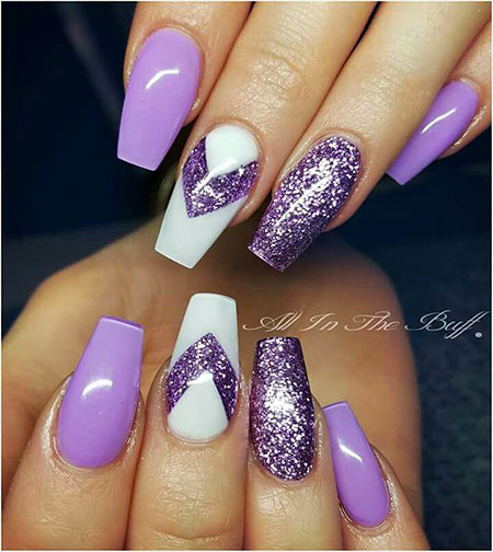 1- Purple Nail Art Design - 20 Purple Nail Art Designs