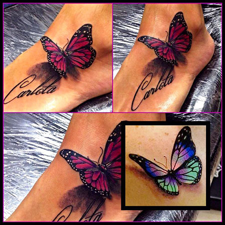 Butterfly Tattoo Design, Butterfly Tattoo 3D Realistic