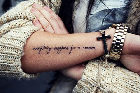 Forearm Tattoo Idea, Tattoos Tattoo Quote Forearm