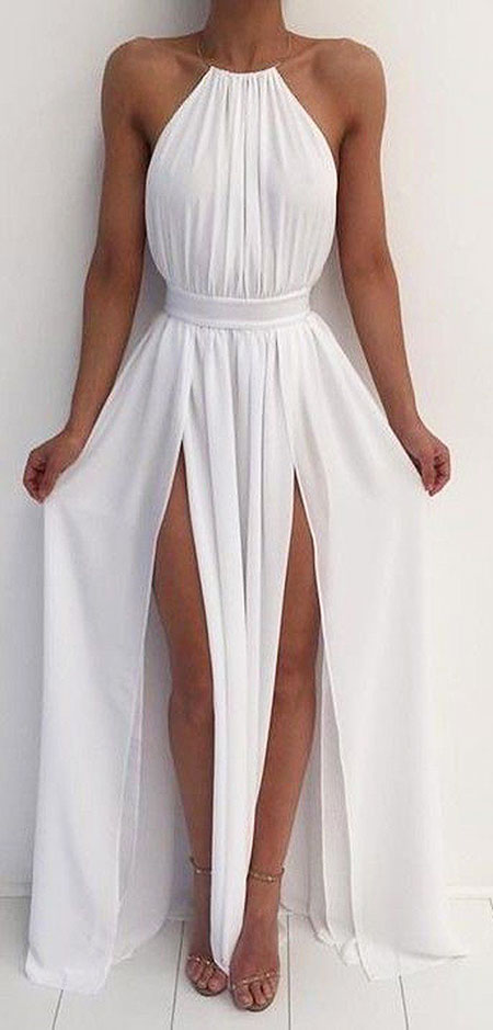White Outfit Idea, White Prom Dress Dresses