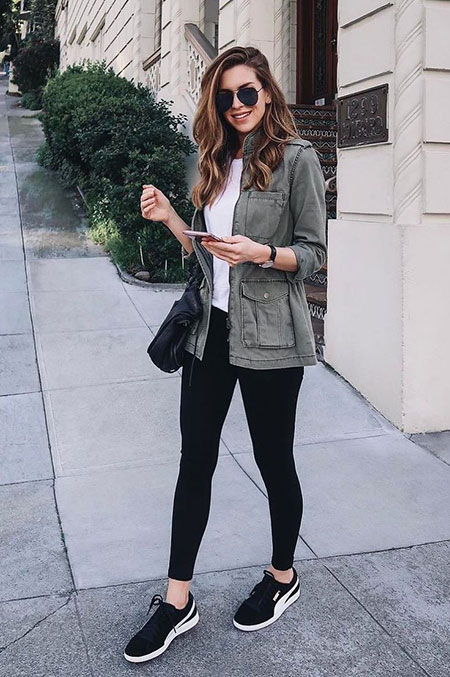 Black Leggings Outfit, White Fashion Winter Outfits
