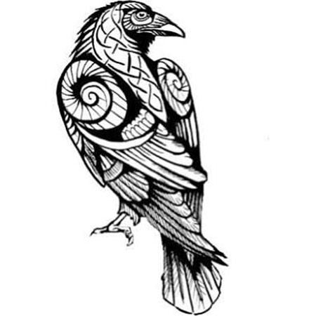 Tattoo Crow Owl Viking