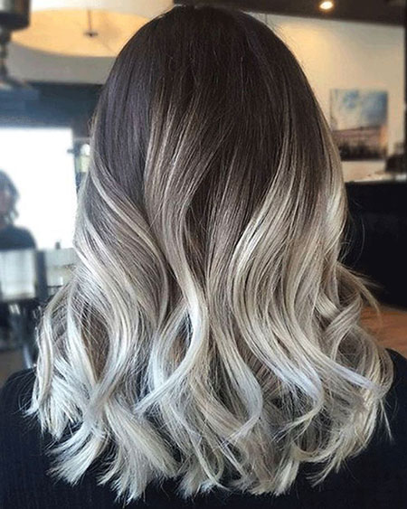 Hair Balayage Blonde Ash