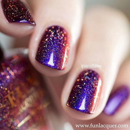 Polish Glitter Lacquer Nails