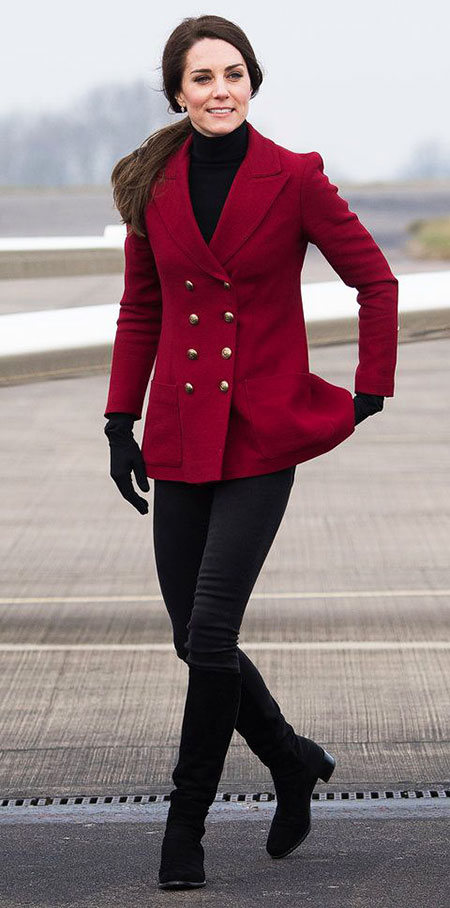 Princess Kate Red Wool