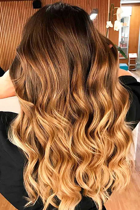 Hair Ombre Blonde Color